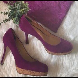 Nine West purple suede heels size 12